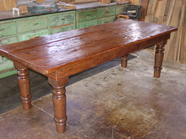 Rustic kitchen table afreakatheart for Rustic farm tables for sale